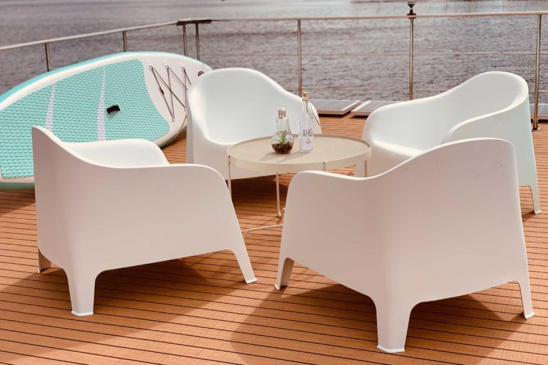 Hausboot-See Dachterrasse