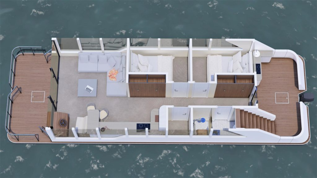 Luxusboot 4 Grundriss links
