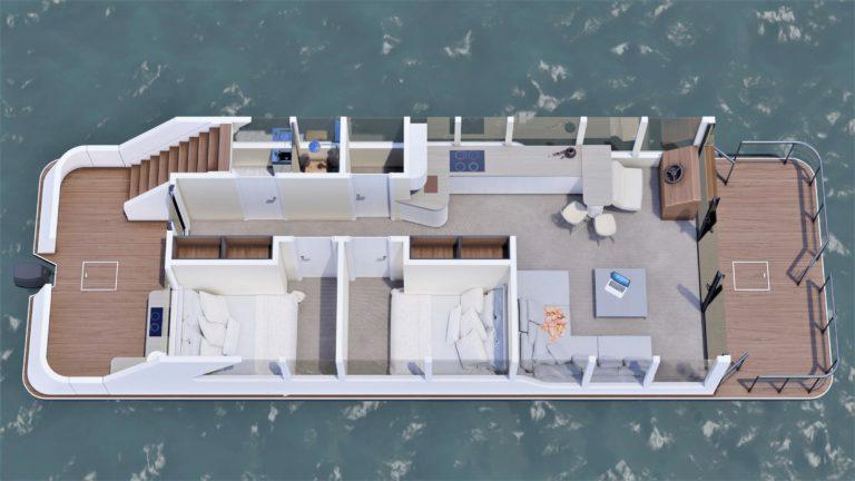 Luxusboot 4 Grundriss rechts